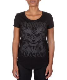 Black printed loose fit t-shirt - GIVING SPORT BLACK