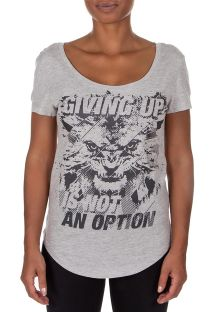 Grey printed loose fit t-shirt - GIVING SPORT GREY