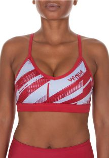 Red/white light support sports bra - RAPID SPORT BRA CORAL