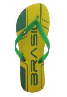 Deze kleurrijke teenslippers combineren robuustheid en comfort in een zeer Braziliaanse stijl - Team Brazil Yellow