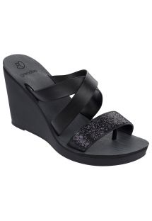Slippers - Paradiso II Plat Fe Black