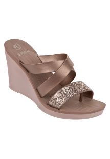 Slippers - PARADISO II PLAT FE ROSE/ROSE