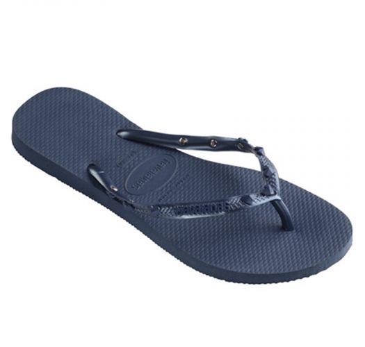 1d678b454 Flip-Flops Slim Hardware Indigo Blue-indigo Blue - Brand Havaianas