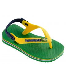 Flip-Flops - Havaianas Baby Brasil Logo Green