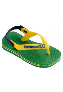 Klapki - Havaianas Baby Brasil Logo Green