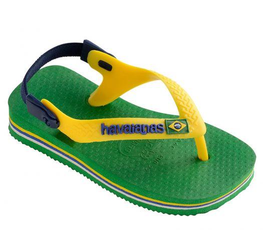 4641dce18df61 Sandals Flip-flops - Havaianas Baby Brasil Logo Green