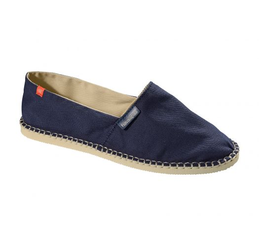 Navy blue canvas espadrilles with beige soles - Origine II Navy Blue/Beige