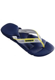 Navy blue and grey sports flip-flops - Power Navy Blue/Navy Blue