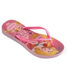 Flip-Flops - Havaianas Kids Slim Princess Crystal Rose/Shocking