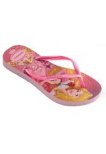 人字拖 Flip flops - Havaianas Kids Slim Princess Crystal Rose/Shocking