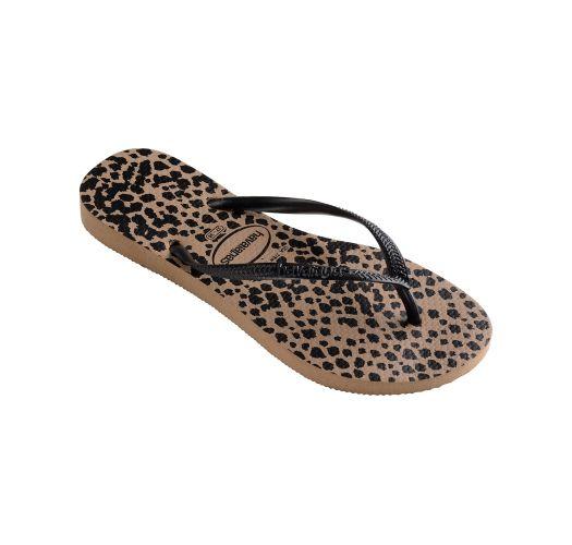 Flip-Flops - Havaianas Slim Animals Rose Gold/Black
