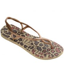 Flip-Flops - Havaianas Luna Animals Sand Grey/Rose Gold