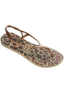 Tong - Havaianas Luna Animals Sand Grey/Rose Gold