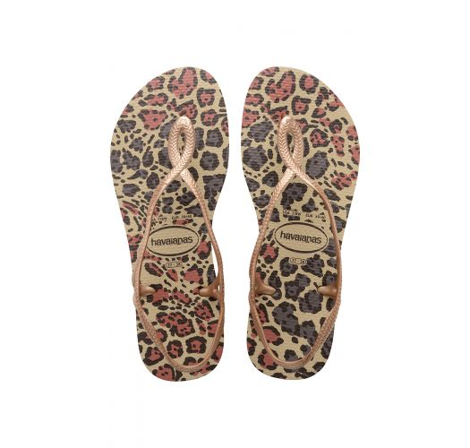 Флип флоп чехли - Havaianas Luna Animals Sand Grey/Rose Gold