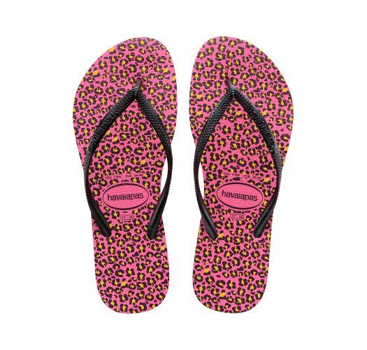 Flip-Flops - Havaianas Slim Animals Shocking Pink