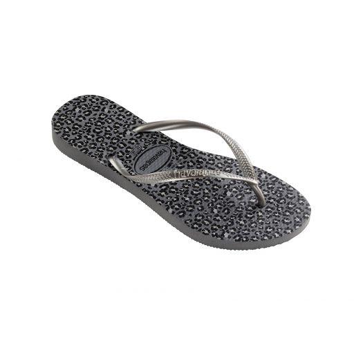 Flip-Flops - Havaianas Slim Animals Steel Grey