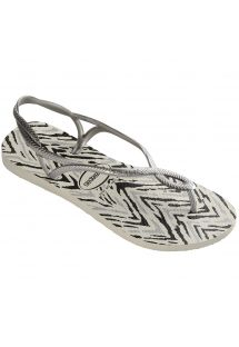 Slippers - Havaianas Luna Animals White/Silver
