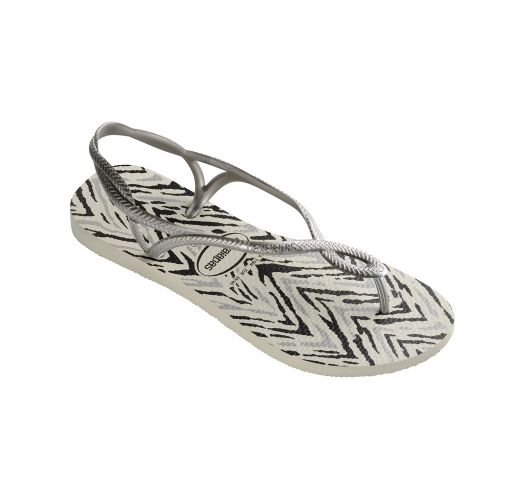 Tong - Havaianas Luna Animals White/Silver