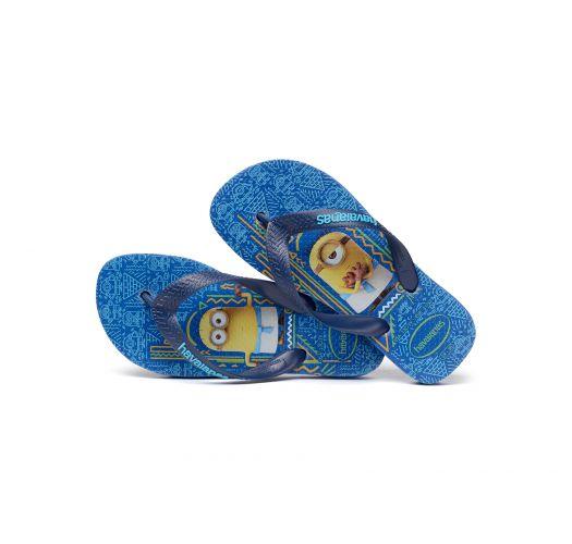 Blue Flip Flops - Havaianas Kids Minions Blue Star