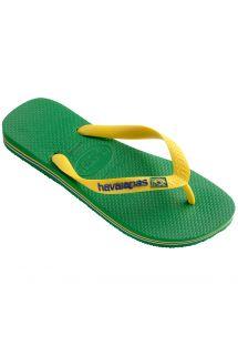 Slippers - Havaianas Brasil Logo Green