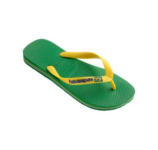 Flip-Flops - Havaianas Brasil Logo Green