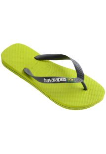 Slippers - Havaianas Brasil Logo Lime Green/Grey