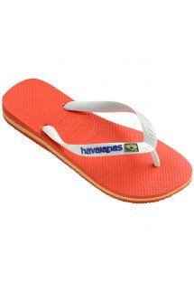 Flip-Flops - Havaianas Brasil Logo Pumpkin