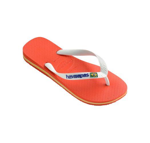 114111338fe7e Flip-flops - Havaianas Brasil Logo Pumpkin