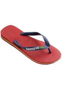 Red Flip Flops - Havaianas Brasil Logo Red