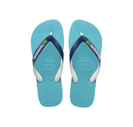 Blue Flip Flops - Havaianas Brasil Mix Blue