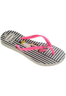 כפכפים - Havaianas Kids Disney Cool White/Shocking Pink