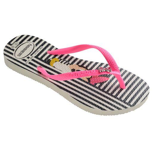 Flip-Flops - Havaianas Kids Disney Cool White/Shocking Pink