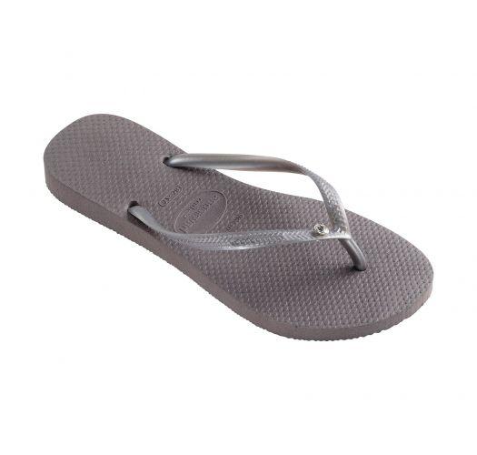 Flip-Flops - Havaianas Slim Crystal Glamour Sw Steel Grey