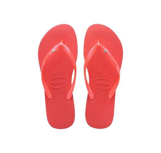 Tong Rouge - Havaianas Slim Crystal Sw Coralnew