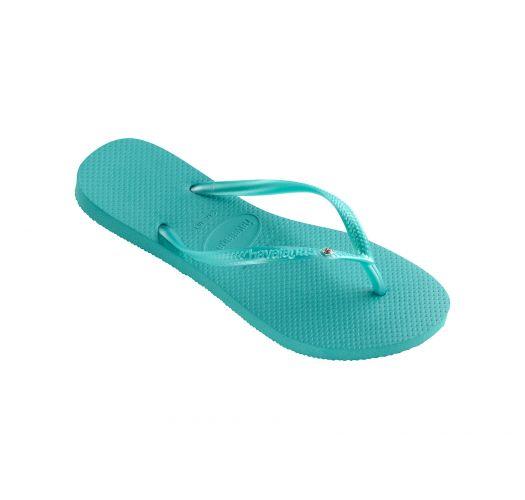 Flip-Flops - Havaianas Slim Crystal Sw Lake Green
