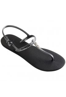 Black Flip Flops - Havaianas Freedom Crystal Black/Graphite