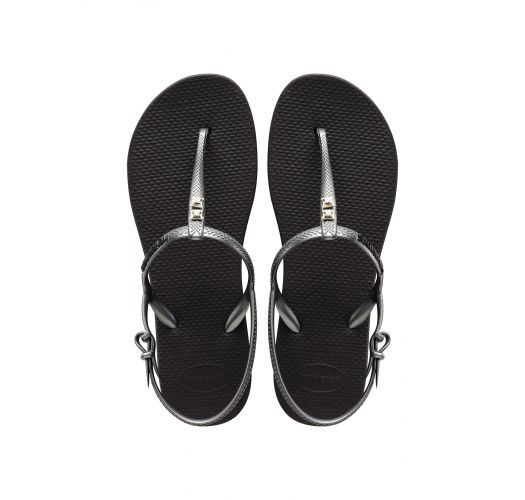Флип флоп чехли - Havaianas Freedom Crystal Black/Graphite
