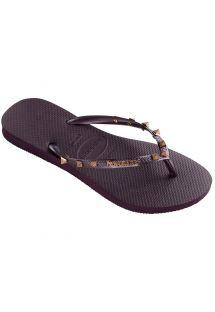 รองเท้าแตะ - Havaianas Slim Hardware Aubergine/Aubergine