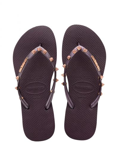 Flip-Flops - Havaianas Slim Hardware Aubergine/Aubergine