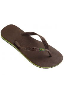 Flip flops in a classic dark brown - Havaianas Brasil Dark Brown