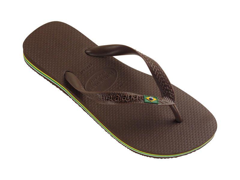 Flip flops in a classic dark brown - Havaianas Brasil Dark Brown
