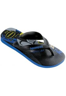 ビーチサンダル - Havaianas Kids Max Herois Black/Blue Star