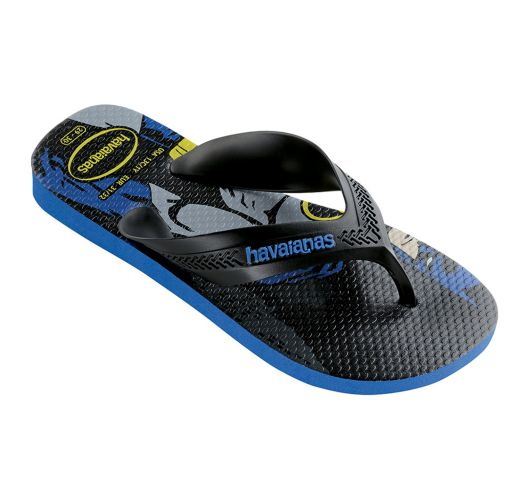 Флип флоп чехли - Havaianas Kids Max Herois Black/Blue Star