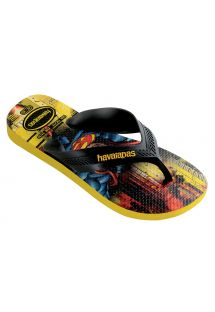 ビーチサンダル - Havaianas Kids Max Herois Black/Citrus Yellow