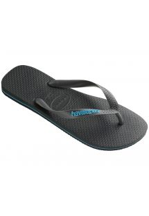 Slippers - Havaianas Logo Filete Grey/Turquoise