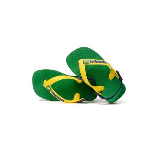 Tong - Havaianas Baby Brasil Logo Green