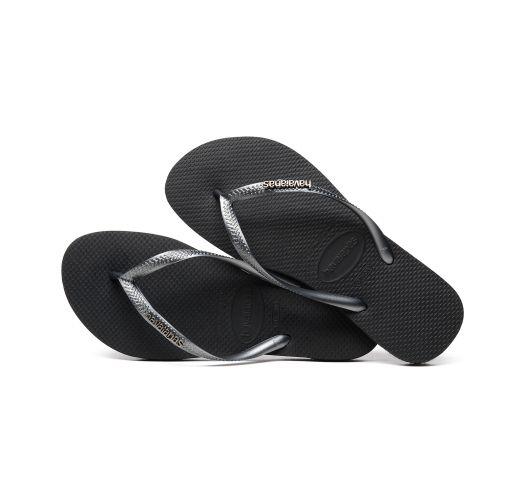 Сандали - Havaianas Slim Logo Metallic Black/Graphite