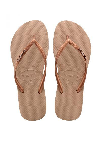 Sandaler - Havaianas Slim Logo Metallic Rose/Dark Copper