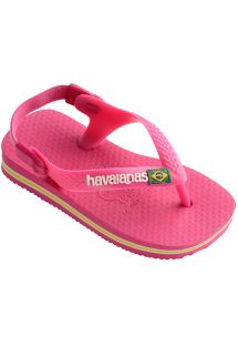 Flip-Flop - Havaianas Baby Brasil Logo Orchid Rose