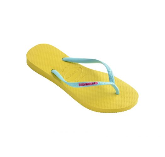 Flip-Flops - Havaianas Slim Logo Revival Yellow